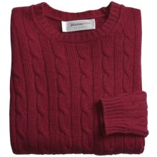 Johnstons of Elgin Cashmere Sweater (For Women) in New Damson Red - Closeouts