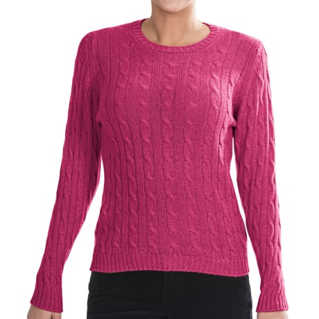 Johnstons of Elgin Cashmere Sweater (For Women) in Rhubarb