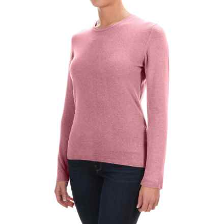 Johnstons of Elgin Cashmere Sweater (For Women) in Rose - Closeouts