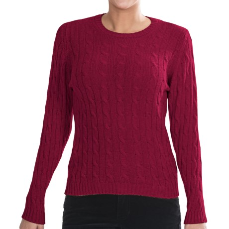 Johnstons of Elgin Cashmere Sweater (For Women) in Ruby