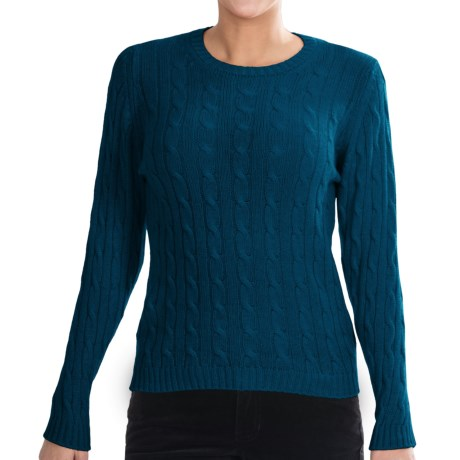 Johnstons of Elgin Cashmere Sweater (For Women) in Sapphire