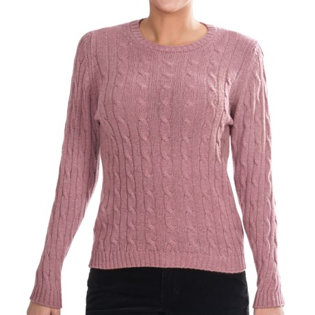 Johnstons of Elgin Cashmere Sweater (For Women) in Tea Rose