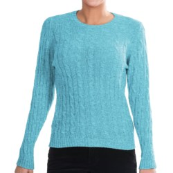 Johnstons of Elgin Cashmere Sweater (For Women) in Turquoise