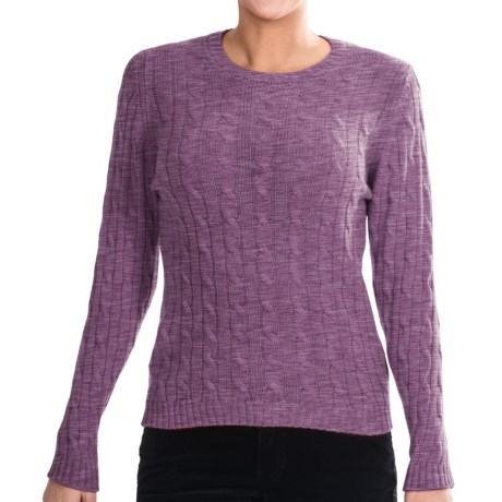 Johnstons of Elgin Cashmere Sweater (For Women) in Wisteria