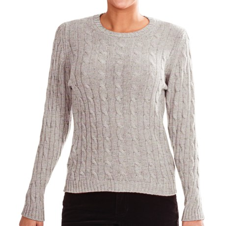 Johnstons of Elgin Cashmere Sweater (For Women) in Zinc