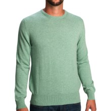 Johnstons of Elgin Cashmere Sweater - Round Neck (For Men) in Sea Holly - Closeouts