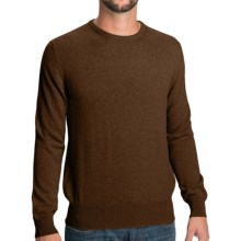 Johnstons of Elgin Cashmere Sweater - Round Neck (For Men) in Tobacco - Closeouts
