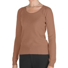 Johnstons of Elgin Cashmere Sweater - Round Neck (For Women) in Caramel - Closeouts