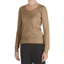 Johnstons of Elgin Cashmere Sweater - Round Neck (For Women) in Pecan - Closeouts