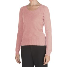 Johnstons of Elgin Cashmere Sweater - Round Neck (For Women) in Peony - Closeouts