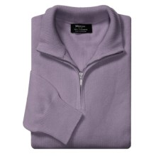 Johnstons of Elgin Cashmere Sweater - Zip Neck (For Men in Moondust - Closeouts