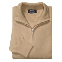 Johnstons of Elgin Cashmere Sweater - Zip Neck (For Men in Natural - Closeouts