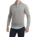 Johnstons of Elgin Cashmere Sweater - Zip Neck, Leather Pull (For Men)