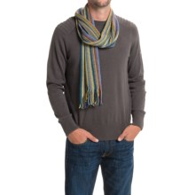 Johnstons of Elgin Cashmere Wrap Scarf (For Men and Women) in Green Multi - Closeouts