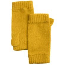 Johnstons of Elgin Cashmere Wrist Warmers (For Women) in Mustard - Closeouts