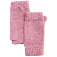 Johnstons of Elgin Cashmere Wrist Warmers (For Women) in Tea Rose - Closeouts