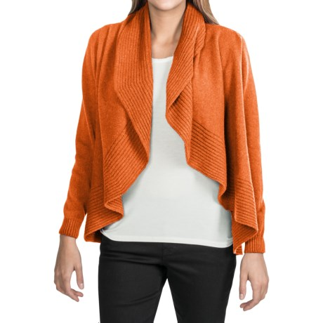Johnstons of Elgin Circle Cardigan Sweater - Cashmere (For Women) in Cinnamon