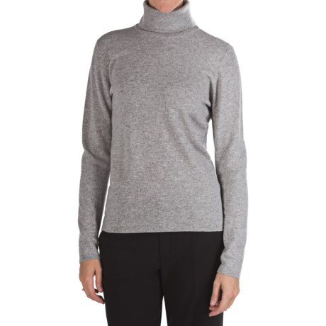 Johnstons of Elgin Classic Cashmere Turtleneck Sweater - 21-Gauge  (For Women) in Brume