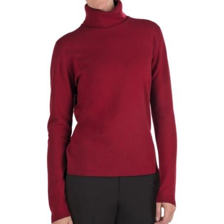 Johnstons of Elgin Classic Cashmere Turtleneck Sweater - 21-Gauge  (For Women) in Henna