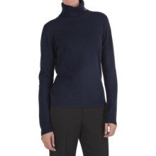Johnstons of Elgin Classic Cashmere Turtleneck Sweater - 21-Gauge  (For Women) in Nero Navy - Closeouts