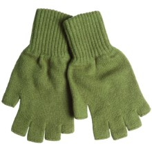 Johnstons of Elgin Fingerless Cashmere Gloves (For Women) in Olive - Closeouts