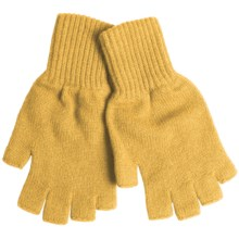 Johnstons of Elgin Fingerless Cashmere Gloves (For Women) in Sunflower - Closeouts