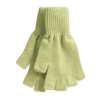 Johnstons of Elgin Fingerless Gloves - Cashmere (For Men and Women)