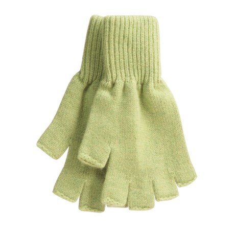 Johnstons of Elgin Fingerless Gloves - Cashmere (For Men and Women) in Sherbert