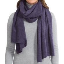 Johnstons of Elgin Gauzy Stole Scarf - Cashmere (For Women) in Blackberry - Closeouts