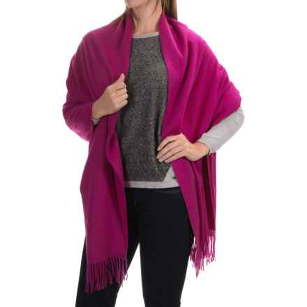 Johnstons of Elgin Hand-Finished Cashmere Stole (For Women) in Magenta - Closeouts