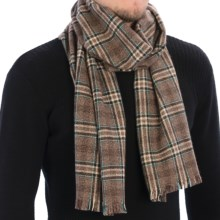 Johnstons of Elgin Heritage Check Scarf - Cashmere (For Men and Women) in Otter/Brown - Closeouts