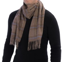 Johnstons of Elgin Lamora Check Scarf - Merino Wool (For Men and Women) in Brown/Green/Blue - Closeouts