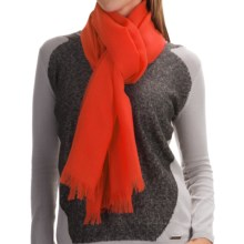 Johnstons of Elgin Light-as-Air Cashmere Scarf (For Women) in Bright Coral - Closeouts