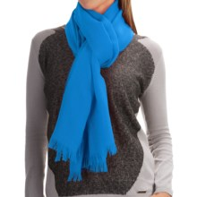 Johnstons of Elgin Light-as-Air Cashmere Scarf (For Women) in Mid Blue - Closeouts