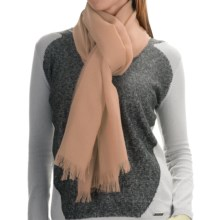 Johnstons of Elgin Light-as-Air Cashmere Scarf (For Women) in Pale Taupe - Closeouts