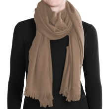 """Johnstons of Elgin Lightweight Cashmere Stole Scarf - 79x28"""" (For Women) in Oatmeal - Closeouts"""
