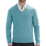 Johnstons of Elgin Lightweight Cashmere Sweater - V-Neck (For Men)
