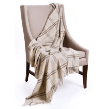 "Johnstons of Elgin Limited Edition Throw Blanket - Lambswool, 67x55"" in Grey - Closeouts"