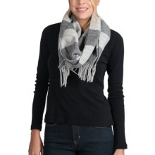 Johnstons of Elgin Merino Wool-Cashmere Scarf (For Women) in Grey - Closeouts