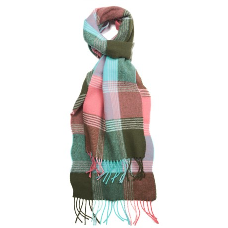 Johnstons of Elgin Multicolor Scarf - Woven Lambswool (For Men and Women)