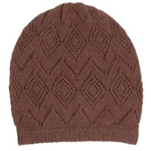 Johnstons of Elgin Pointelle Cashmere Beanie (For Women) in Buffalo - Closeouts