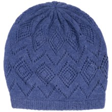 Johnstons of Elgin Pointelle Cashmere Beanie (For Women) in Denim - Closeouts
