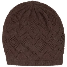 Johnstons of Elgin Pointelle Cashmere Beanie (For Women) in Heath - Closeouts