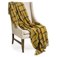 "Johnstons of Elgin Pure Cashmere Throw Blanket - 75x55"" in Olive - Closeouts"