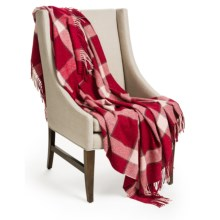 "Johnstons of Elgin Pure Cashmere Throw Blanket - 75x55"" in Red - Closeouts"