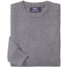 Johnstons of Elgin Ribbed Lambswool Sweater (For Men) in Grey Mix - Closeouts