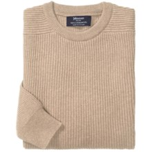 Johnstons of Elgin Ribbed Lambswool Sweater (For Men) in Oatmeal - Closeouts