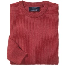 Johnstons of Elgin Ribbed Lambswool Sweater (For Men) in Poppy - Closeouts