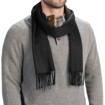 Johnstons of Elgin Royal Speyside Cashmere Scarf (For Men and Women) in Black - Closeouts