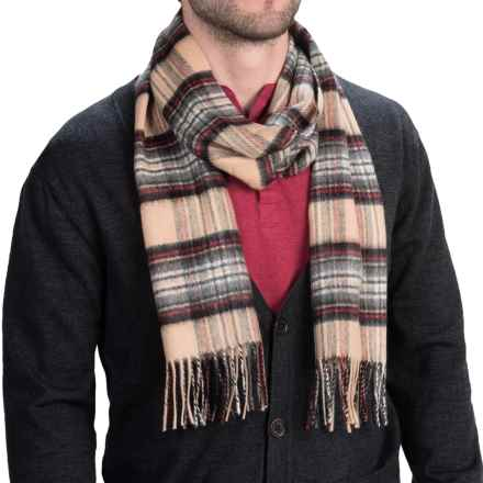 Johnstons of Elgin Royal Speyside Cashmere Scarf (For Men and Women) in Camel Stewart - Closeouts